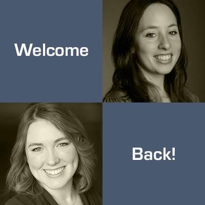 Welcome back Maegan, Elizabeth and Stephanie